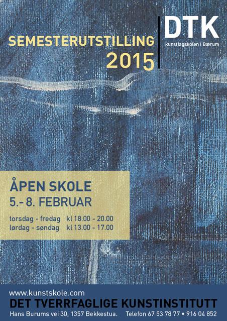 Plakat semesterutstilling februar 2015