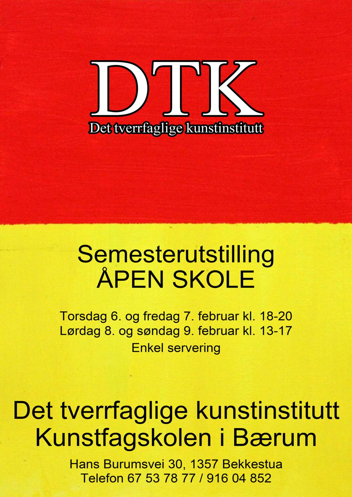 Plakat semesterutstilling februar 2014