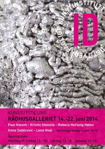 Plakat kunstutstilling 2014