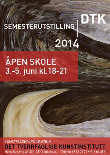 Plakat semesterutstilling juni 2014