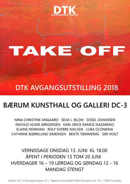 Plakat avgangsutstilling 2018