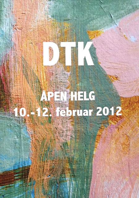 Plakat utstilling februar 2012