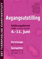 Plakat avgangutstilling juni 2011