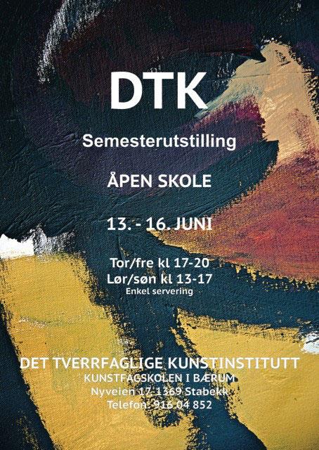 Plakat semesterutstilling juni 2013