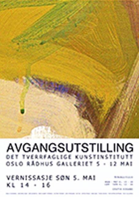 Plakat avgangsutstilling mai 2013