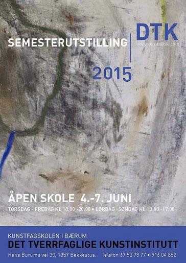 Plakat semesterutstilling juni 2015