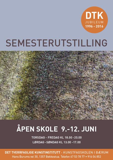 Plakat semesterutstilling juni 2016