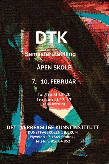 Plakat semesterutstilling februar 2013