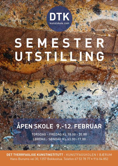 Plakat semesterutstilling februar 2017